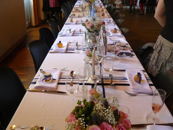 table de fête sur le thème de l'Ecosse
