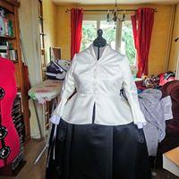Devant veste fibie avec boutonniere et bouton 1